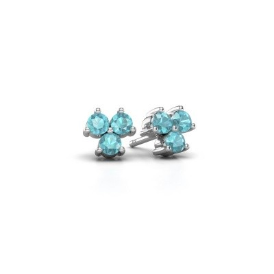 Picture of Stud earrings Shirlee 925 silver blue topaz 3 mm