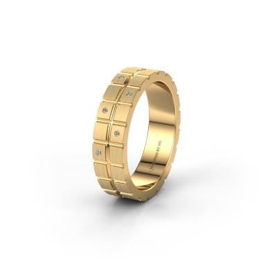 Vriendschapsring WH2011L 585 goud diamant ±5x1.8 mm