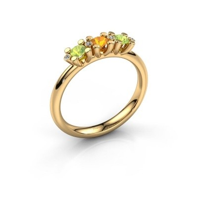 Ring Puk 2 585 goud citrien 3 mm