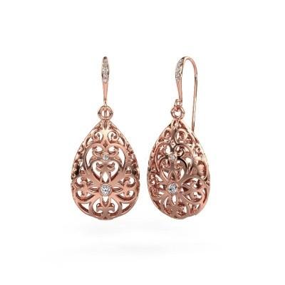 Picture of Drop earrings Idalia 2 375 rose gold zirconia 2 mm