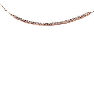 Foto van Bar ketting Simona 375 rosé goud zirkonia 1.5 mm