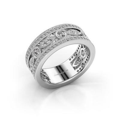 Foto van Ring Jessica 585 witgoud diamant 0.864 crt