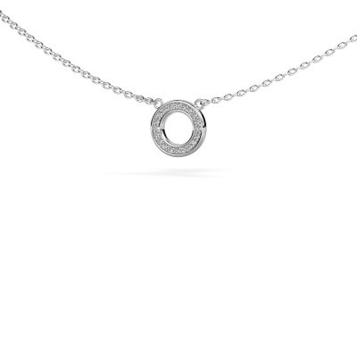 Picture of Pendant Round 2 925 silver zirconia 0.8 mm