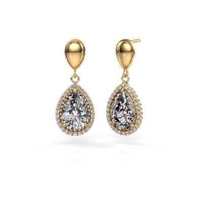Foto van Oorhangers Cheree 1 585 goud diamant 6.42 crt