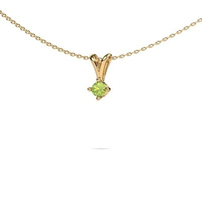 Picture of Necklace Jannette 375 gold peridot 3.7 mm