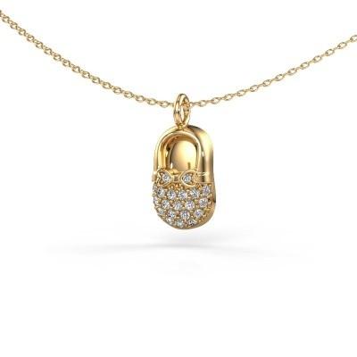 Picture of Pendant Babyshoe 585 gold zirconia 1.3 mm