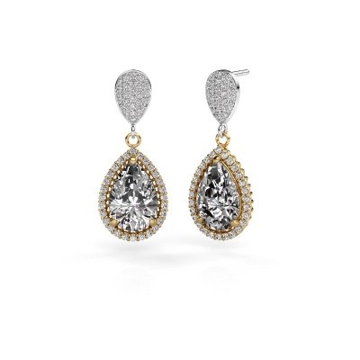 Picture of Drop earrings Cheree 2 585 gold diamond 6.690 crt