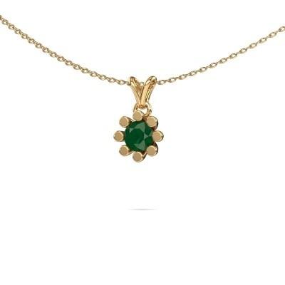 Picture of Pendant Carola 1 585 gold emerald 5 mm