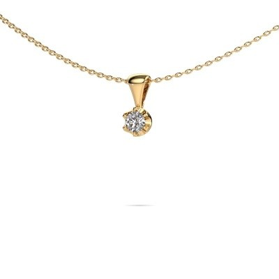 Ketting Fran 585 goud diamant 0.15 crt