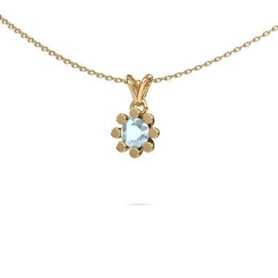 Picture of Pendant Carola 1 585 gold aquamarine 5 mm