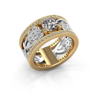 Foto van Ring Severine 585 goud zirkonia 6 mm
