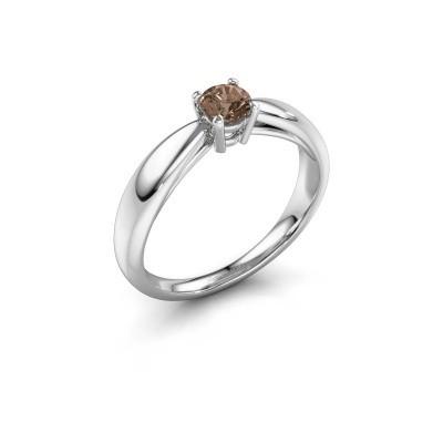 Foto van Verlovingsring Nichole 585 witgoud bruine diamant 0.30 crt