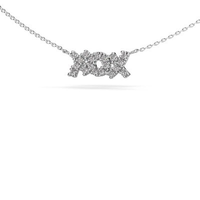 Picture of Necklace XoX 925 silver zirconia 1.5 mm