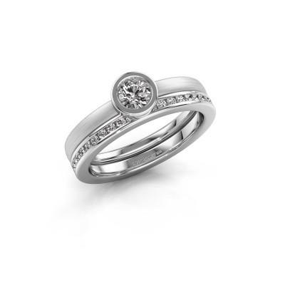 Foto van Ring Cara 950 platina diamant 0.69 crt