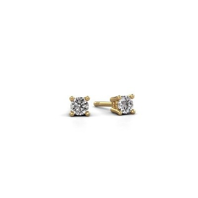 Foto van Oorstekers Jannette 585 goud diamant 0.40 crt