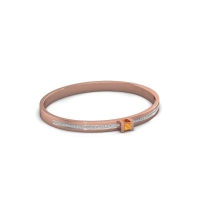 Foto van Armband Desire 585 rosé goud citrien 4 mm