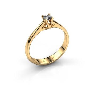 Foto van Verlovingsring Janna 1 750 goud zirkonia 3.4 mm