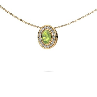 Picture of Necklace Madelon 585 gold peridot 6x4 mm