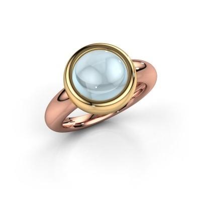 Foto van Ring Jenae 585 rosé goud aquamarijn 10 mm
