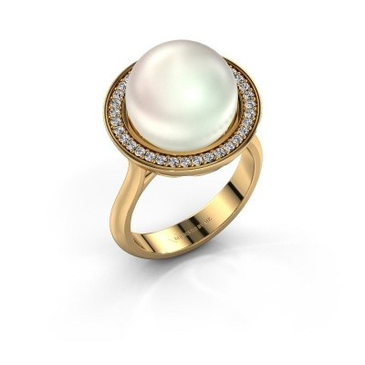 Foto van Ring Grisel 585 goud witte parel 12 mm