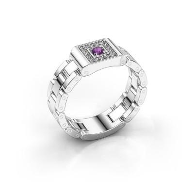 Foto van Rolex stijl ring Giel 585 witgoud amethist 2.7 mm