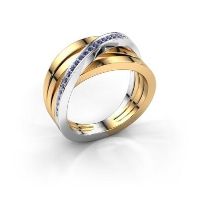 Foto van Ring Esmee 585 goud saffier 1 mm