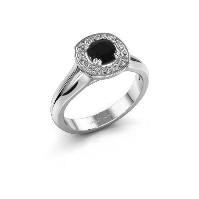 Bild von Ring Carolina 1 585 Weissgold Schwarz Diamant 0.76 crt
