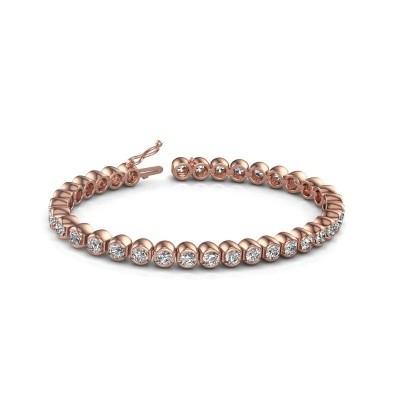 Foto van Tennisarmband Bianca 750 rosé goud diamant 8.75 crt