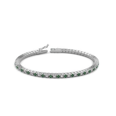 Foto van Tennisarmband Karisma 585 witgoud smaragd 2.4 mm
