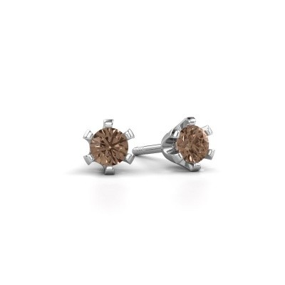 Picture of Stud earrings Shana 925 silver brown diamond 0.50 crt