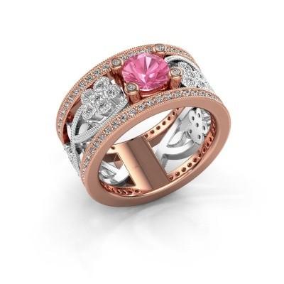 Foto van Ring Severine 585 rosé goud roze saffier 6 mm