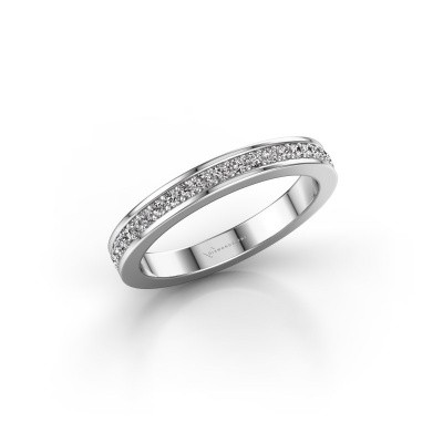 Picture of Stackable ring SRH0030B20H6 585 white gold diamond 0.252 crt