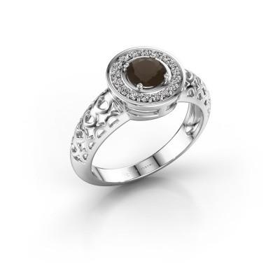 Foto van Ring Katalina 925 zilver rookkwarts 5 mm