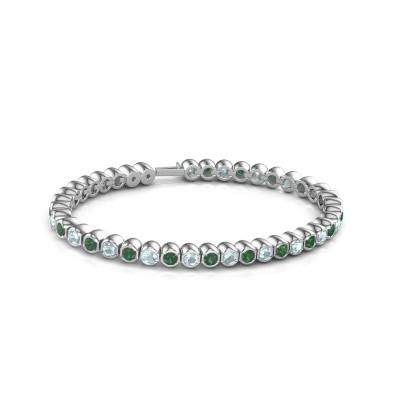 Foto van Tennisarmband Mellisa 585 witgoud smaragd 3.5 mm