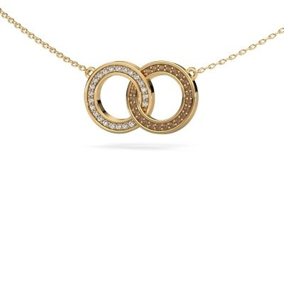 Bild von Kette Circles 1 585 Gold Braun Diamant 0.23 crt