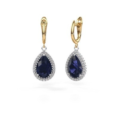 Picture of Drop earrings Hana 1 585 white gold sapphire 12x8 mm