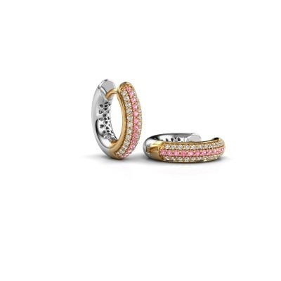 Picture of Hoop earrings Tristan B 14 mm 585 gold pink sapphire 1 mm