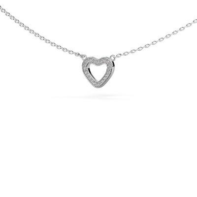 Foto van Hanger Heart 4 925 zilver diamant 0.055 crt