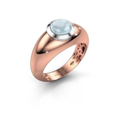 Foto van Ring Sharika 585 rosé goud aquamarijn 6 mm