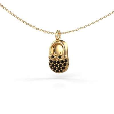Picture of Pendant Babyshoe 585 gold black diamond 0.232 crt