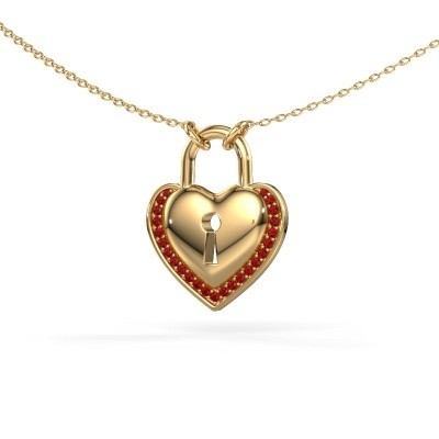 Picture of Necklace Heartlock 585 gold ruby 1 mm