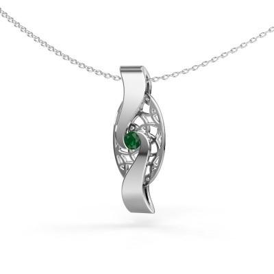 Bild von Anhänger Darleen 925 Silber Smaragd 3 mm
