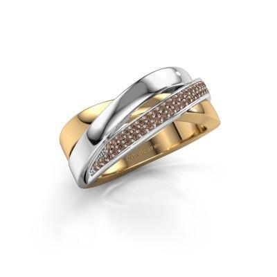 Foto van Ring Katherina 585 goud bruine diamant 0.255 crt
