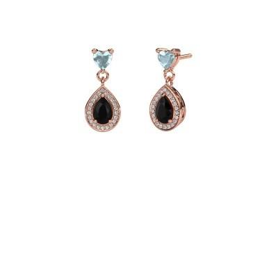 Bild von Ohrhänger Susannah 375 Roségold Schwarz Diamant 1.69 crt