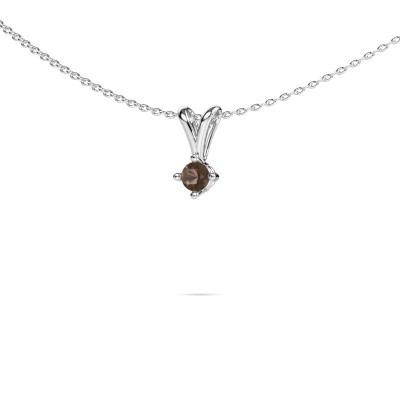 Picture of Necklace Jannette 925 silver smokey quartz 3.7 mm