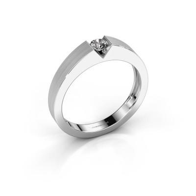 Foto van Verlovingsring Lizzy 1 950 platina diamant 0.20 crt