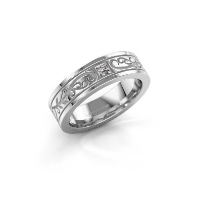 Foto van Heren ring Matijs 950 platina diamant 0.17 crt