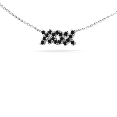 Picture of Necklace XoX 925 silver black diamond 0.342 crt