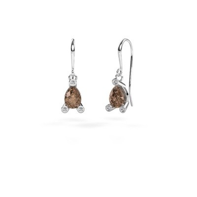 Picture of Drop earrings Bunny 1 375 white gold brown diamond 1.345 crt