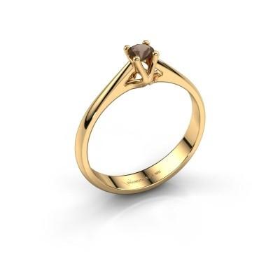 Foto van Verlovingsring Janna 1 750 goud rookkwarts 3.4 mm